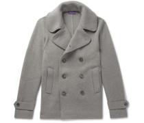 Wool-jersey Peacoat - Gray