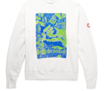 Printed Loopback Cotton-jersey Sweatshirt - White