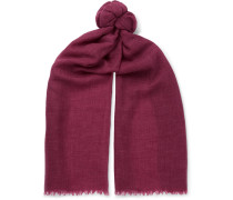 Cashmere And Cotton-blend Scarf - Burgundy