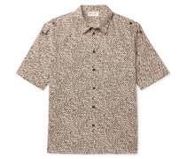 Tiger-Print Cotton-Poplin Shirt