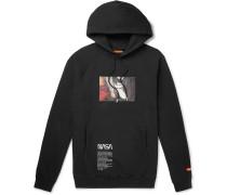 + NASA Printed Fleece-Back Cotton-Jersey Hoodie