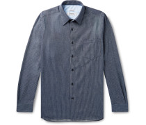 Striped Brushed-Cotton Shirt