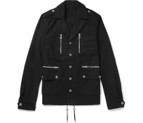 Logo-Embossed Cotton-Gabardine Jacket