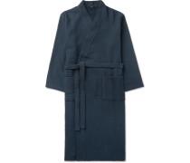 Waffle-Knit Cotton Robe