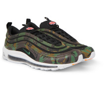 Air Max 97 Faux Leather And Canvas Sneakers - Green