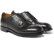 Williams Cap-toe Polished-leather Derby Shoes