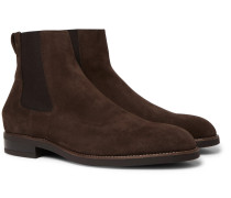 Canon Suede Chelsea Boots - Dark brown