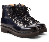 Fidel Leather Boots - Navy