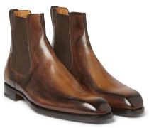 Leather Chelsea Boots - Dark brown