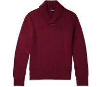 Shawl-Collar Virgin Wool Sweater