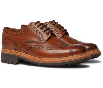 Archie Leather Wingtip Brogues - Tan