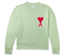 Logo-Appliquéd Fleece-Back Cotton-Blend Jersey Sweatshirt