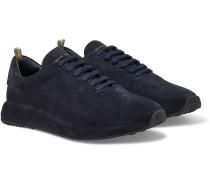 Race 17 Suede Sneakers - Navy