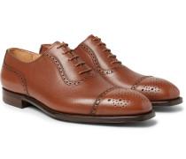 Adam Full-grain Leather Oxford Brogues - Tan