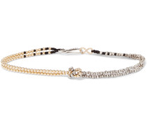 Miyuki, Sterling Silver and Gold-Plated Bracelet
