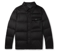 Slim-Fit Quilted Cashmere Jacket