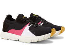 Valentino Garavani Sound Low Suede And Leather-trimmed Mesh Sneakers