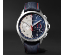 Limited Edition Clifton Club Shelby Cobra Automatic 44mm Stainless Steel And Leather Watch - Blue