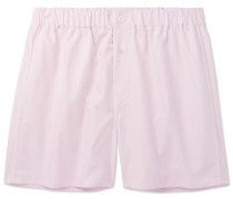 Cotton Oxford Boxer Shorts - Pink