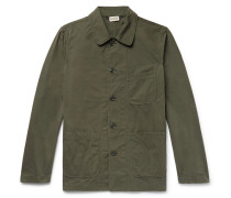 Garment-dyed Cotton-canvas Field Jacket - Forest green