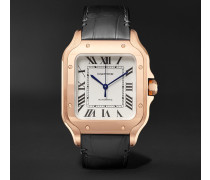 Santos Automatic 35.1mm Rose Gold Interchangeable Alligator And Leather Watch
