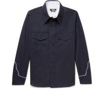 Contrast-trimmed Cotton Shirt