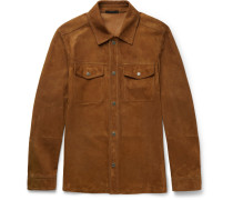 Slim-fit Suede Shirt