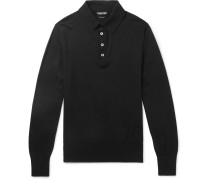 Sea Island Cotton Polo Shirt - Black