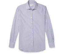 Curtis Slim-fit Striped Cotton-poplin Shirt