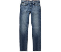 L'homme Skinny-fit Distressed Stretch-denim Jeans