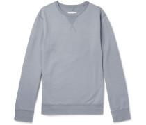 Loopback Cotton-jersey Sweatshirt - Blue