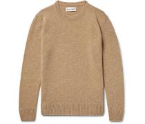 Aren Mélange Shetland Wool Sweater - Sand