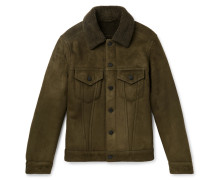 Shearling Trucker Jacket - Army green