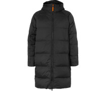 Quilted Nylon-Ripstop Hooded Down Jacket