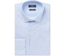 Light-blue Jesse Slim-fit Striped Cotton-poplin Shirt