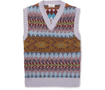 Slim-fit Fair Isle Knitted Sweater Vest