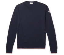 Contrast-tipped Virgin Wool Sweater