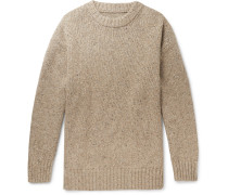Oversized Donegal Wool-Blend Sweater