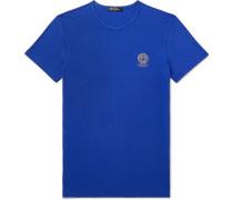 Slim-fit Logo-print Stretch-cotton Jersey T-shirt - Blue