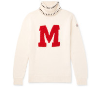 2 Moncler 1952 Intarsia Virgin Wool Rollneck Sweater
