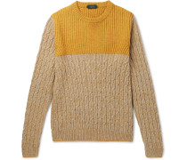Colour-block Mélange Virgin Wool And Yak-blend Sweater