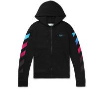 Slim-fit Logo-print Fleece-back Cotton-jersey Zip-up Hoodie