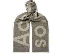 Toronty Logo-jacquard Wool-blend Scarf - Gray