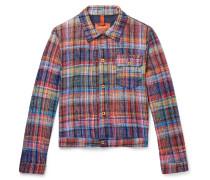 Checked Cotton Trucker Jacket