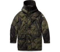 Gaillon Camouflage-print Quilted Shell Hooded Down Parka