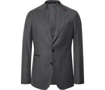 Grey Wool And Cashmere-blend Suit Jacket - Gray