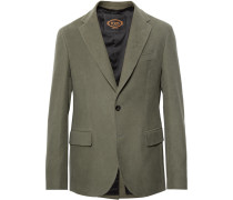 Green Cotton-moleskin Suit Jacket - Green