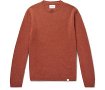 Sigfried Brushed-wool Sweater - Orange