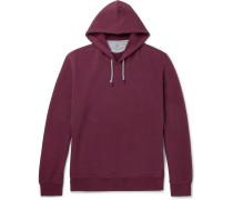 Fleece-back Stretch-cotton Jersey Hoodie