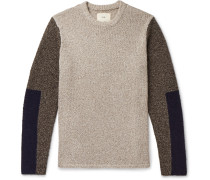 Colour-Block Knitted Sweater